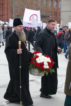 Управляющий Искитимской епархией принял участие в торжественных мероприятиях, посвященных 73-й годовщине Победы в Великой Отечественной войне